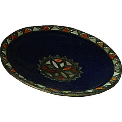 Plat marocain bleu de Marrakech, Maroc