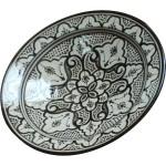 Moroccan Ceramic and metal Platter