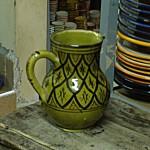 Moroccan Green Ceramic Pitcher