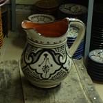Moroccan Ceramic Pitcher