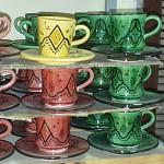 Tasse et sous tasse à café marocaines en céramique
