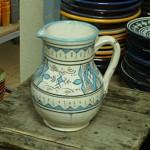Blue & White Moroccan Ceramic Pitcher