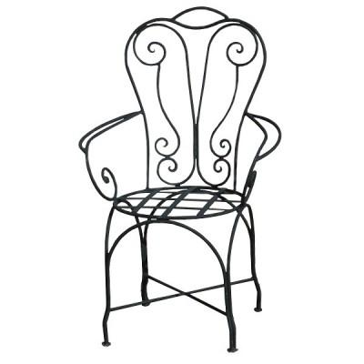 Design chair, Wrought Iron Armchair