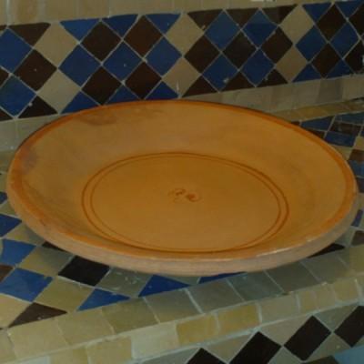 Plat à couscous marocain en terre cuite