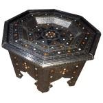Table marocaine octogonale en bois