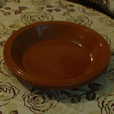 Plat à couscous marocain en terre cuite vernis