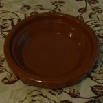 Plat à couscous en terre cuite vernis du Maroc