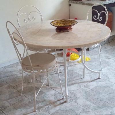 Table en zellige vitrifié